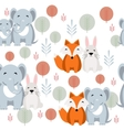 Cute animal seamless pattern with elephant vector image vector image