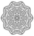 decorative geometric mandala and pattern art vector image