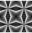 Design seamless monochrome striped pattern vector image vector image