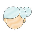 female head cartoon woman face image vector image vector image