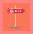 flat shading style icon sign of bar vector image vector image