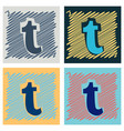 flat tumblr social media icons vector image vector image