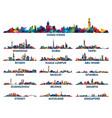 geometric pattern skyline city arabian peninsula vector image