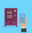hack vending machine vector image vector image