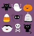happy halloween candy corn ghost spirit vector image