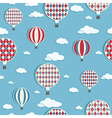 hot air balloons pattern vector image vector image