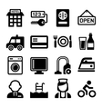 Hotel and Services Icons Set vector image