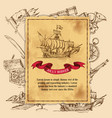 jolly rodger pirate background vector image