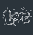 love doodle for valentine and wedding vector image
