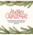 merry christmas pine border vector image vector image