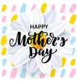 mothers day card design with flower and lettering vector image