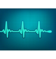 Normal electronic cardiogram vector image vector image