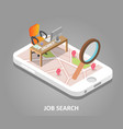 online job search isometric vector image vector image