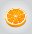 orange slice realistic ripe fruit 3d vector image vector image