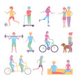 people character image vector image vector image