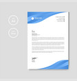 professional creative blue letterhead graphic vector image vector image