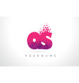 qs q s letter logo with pink purple color and vector image vector image