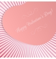Realistic Valentines Day Big paper Heart Card vector image vector image