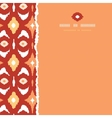 Red and gold ikat geometric frame square torn vector image vector image