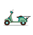 retro scooter a stylized vector image