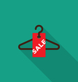 Sale tag with hanger icon vector image vector image