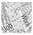 Searching For Perfect Teen Jobs Word Cloud Concept vector image vector image