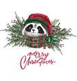 set christmas woodland cute forest cartoon bear vector image vector image