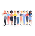 set of a group of different women cartoon style vector image vector image
