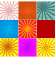 set ofpop art backgounds vector image
