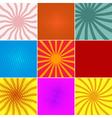 set ofpop art backgrounds vector image