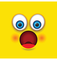 shocked square emoji vector image vector image