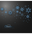 simple elegant christmas card vector image vector image