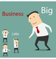 Small and big business partnership vector image