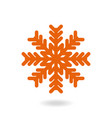 snowflake freeze in winter red white simple icon vector image