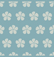stylized flowers seamless pattern blue vector image vector image