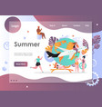 summer website landing page design template vector image vector image