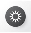 sun icon symbol premium quality isolated sunny vector image vector image