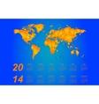 Timezone calendar 2014 vector image vector image