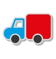 truck construction vehicle icon vector image