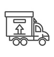 truck delivery box icon outline style vector image vector image