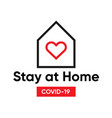 typography design logo stay at home covid-19 vector image vector image