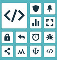 user icons set collection of screenshot armature vector image