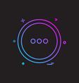 user interface button icon design vector image vector image