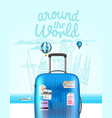 vacation travelling composition with the bag vector image vector image