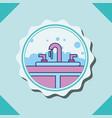 washbasin water bubbles furniture banner bathroom vector image vector image
