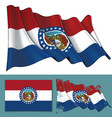 waving flag state missouri vector image vector image