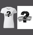 white t-shirt with question mark vector image vector image