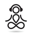Yogi and headphones icon vector image vector image