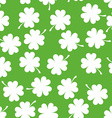Seamless Pattern with Clover Background for Luck vector image