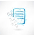 document and footprints grunge icon vector image